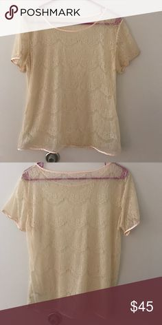 Like New American Apparel Lace Top Perfect Condition. Tag removed for comfort reasons. American Apparel Tops Blouses