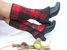 spats - male or female Tartan plaid boot tall spats for women and men gaiters punk standard size spat Tartan Fashion, Punk Fashion, Fashion Outfits, Womens Fashion, Pretty Outfits, Beautiful Outfits, Cool Outfits, Sunday Clothes, Couture