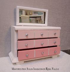 this is nice little bedroom dresser and attached mirror with such clean simple lines that