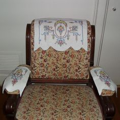 Armchair Doilies Chair Doilies Vintage Doilies by WhimzyThyme, $16.00