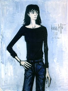 Bernard Buffet, Portrait of [wife] Annabel Buffet Paul Klee, Portraits, Portrait Art, Chambray, James Ensor, Illustrator, French Artists, Popular Culture, France