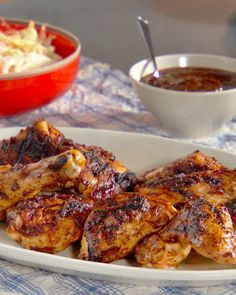 Grilled Chicken with Sweet-and-Sour Fig Barbecue Sauce Recipe ☀ CQ #summer #barbecue #bbq