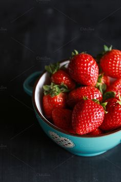 Strawberries by The Little Wild Apple on @creativemarket