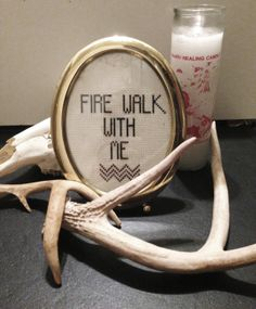 Fire Walk With Me Twin Peaks Cross Stitch. Waaaaaaant