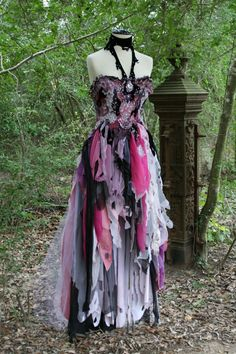 Dream Bohemian Fantasy Steampunk Vampire Goth Witch Wedding Gown OOAK. $1,800.00, via Etsy.
