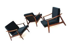 50S And 60S Furniture | 60er Teak Sessel l Kofod Larsen Era l I can't believe I had two of these chairs in off white and gave one away and sold the other for 10.00 before I knew what they were.  I now have one more to recover and on the lookut for more.