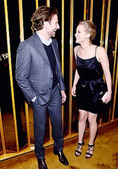 Bradley Cooper and Jennifer Lawrence attend the after party of a screening of 'Serena' hosted by Magnolia Pictures And The Cinema Society With Dior Beauty on March 2015 in New York City. Jennifer Lawrence Photos, Jenifer Lawrence, Bradley Cooper Hair, Magnolia Pictures, Hollywood Heroines, Evolution Of Fashion, Christian Bale, Celebs, Celebrities