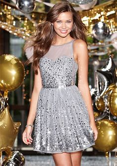 silver sequin holiday dress/party dress, My new years eve dress just ordered <3