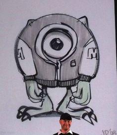 Monsters University - Pixar Wiki - Disney Pixar Animation Studios  Mikey concept drawing