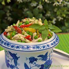 Pasta Salad - Thai Style w/ Coconut Milk Poached Chicken - thecafesucrefarine.com