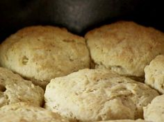 Black Pepper and Sage Biscuits from FoodNetwork. My notes:  1/2 the flour and keep the other stuff the same.  also, see receipe for her drop biscuits.