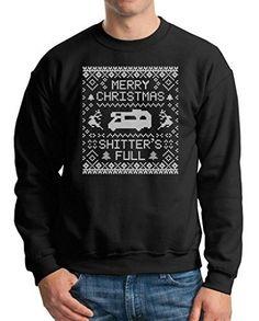 Xmas sweatshirt family sweater Funny christmas sweater Large Black, Men's