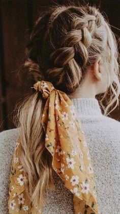Aesthetic Hair, Aesthetic Makeup, How To Wear Scarves, Hair Looks, Hair Lengths, Hair Inspiration, Hair Inspo, Curly Hair Styles, Hair Scarf Styles