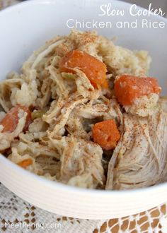 So comforting! Slow Cooker Chicken and Rice is an easy ending to a busy day.