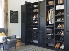 PAX UNDREDAL wardrobe combination in dark brown