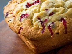 Cream Cheese Cranberry Loaf use baking powder Cranberry Bread, Cranberry Cheese, Cranberry Recipes, Cream Cheese Bread, Delicious Desserts, Dessert Recipes, Cooking Panda, Classic Desserts, Dessert Bread