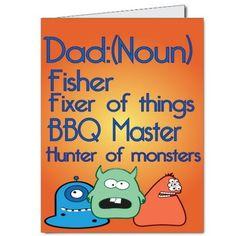 2x3 Giant Dad Card