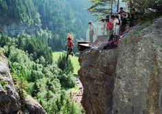 Canyon Swing in Interlaken Switzerland.