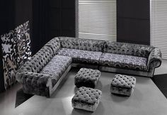 Cozy Fabric Corner Sofas