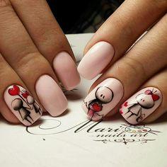 nail designs designs for short nails 2019 kiss nail stickers nail appliques nail art strips Get Nails, Fancy Nails, Love Nails, Trendy Nails, Valentine's Day Nail Designs, Nails Design, Design Design, Valentine Nail Art, Valentines Design