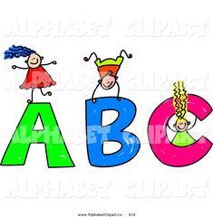 Free Clip Art Alphabet Letters | Clip art, vectores, etc ...