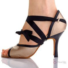 Natural Spin Designer Salsa Shoes/Tango Shoes/Fashion Shoes(Small Open Toe, Leat