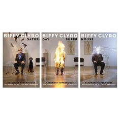 Biffy Clyro - Saturday Superhouse tryptich posters