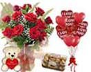 Shopping online red roses teddy ferrero rocher and heart balloons for your friends birthdays. Home delivery to Hyderabad without any delivery charges.  Visit our site : www.flowersgiftshyderabad.com/Combo-Gifts-to-Hyderabad.php