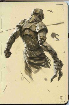 Galaxy Note Sketch 4 - Mech Arm by Jon McCoy