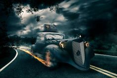 """PS Tutorial: """"A hell of a ride"""". Photoshop Tutorial by Vincent Ribbers  for more informations and the necessary demo content visit www.binar..."""