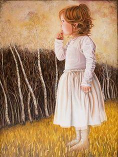 "Saatchi Art Artist Anja Jager; Painting, ""Sarah at the forest edge"" #art"