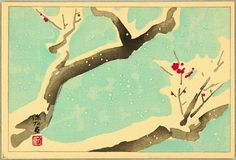 Ito Shinsui, Plum Tree (ca.1950)