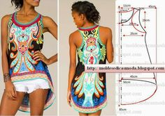 "Flying Tomato ""Free Love"" Vintage Hi Low Tunic Boho Hippie Blue Black Multi Sewing Patterns Free, Free Sewing, Sewing Tutorials, Clothing Patterns, Dress Patterns, Diy Clothing, Sewing Clothes, Fashion Sewing, Diy Fashion"
