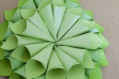 {Tutorial} Paper Cone Christmas Wreath How – To