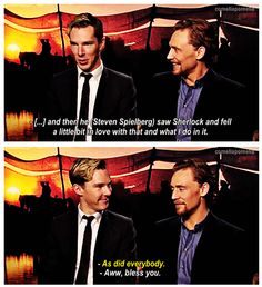 We need more Tom Hiddleston and Benedict Cumberbatch togetherness.