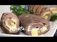Rocambole de Carne e Linguiça fresca – Monta Encanta