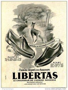 Original-Anzeige / Annonce 1953 - (en français) LIBERTAS - LE CHAUSSEUR -  ca. 115 x 150 mm