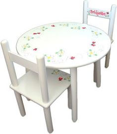 Giveaway: Personalized Kids Table and Chairs Set!