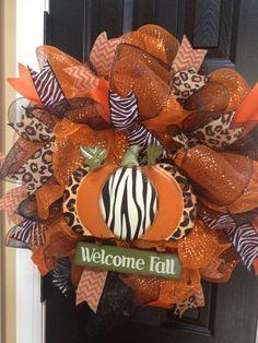 Animal print fall wreath by TJordans