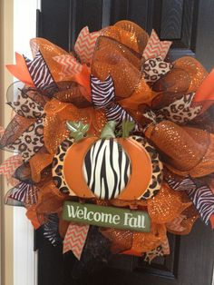 Animal print fall wreath by TJordans
