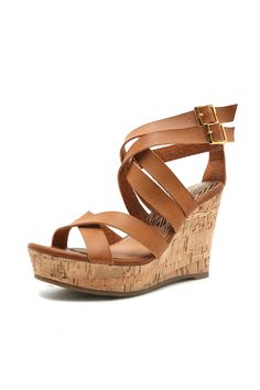 Women's Wedge- Basha Wedge from Eccentrics Boutique  Women's basha wedge in camel. Cute spring wedge that would pair great with dresses and skinny jeans. Spice up your look with these wedges.
