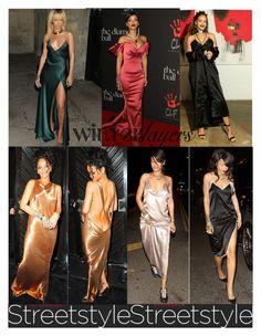 """RIHANNA - SLIP DRESSES"" by bruna-cortes ❤ liked on Polyvore featuring Balenciaga, GALA, women's clothing, women's fashion, women, female, woman, misses, juniors and Rihanna"