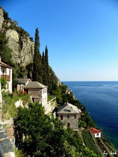 Dionyssiou Monastery, Mount Athos, Chalkidiki , Greece Dedicated to Tonia J The Places Youll Go, Places To Visit, Myconos, Christian World, Thessaloniki, Place Of Worship, Greece Travel, Greek Islands, Beautiful Landscapes