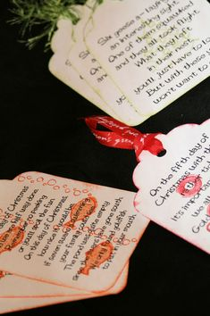 """[I've had several people ask me about this, so I figured it would be easiest to put the poems and information here, so everyone can access it.] Our family has a fun Christmas tradition! We call it """"12 Days"""" for short. And before I get started, yes, I am fully aware that the traditional 12Read More..."""