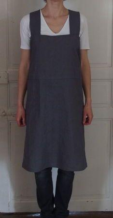 Tuto gratuit tablier crois au dos couture adultes for Patron tablier de cuisine gratuit