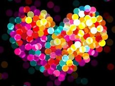 Heart of colorful lights
