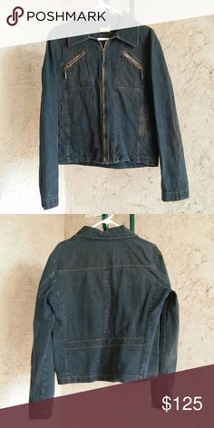 "Just Cavalli Men's Denim Jacket Pre-owned, in good condition. Distressed wash. Size tag is 50 made in Italy. 100% cotton. Armpit to armpit: 20"" Sleeves (shoulder to hem): 26"" Length(collar seam to hem): 24""  CLST-02 Just Cavalli Jackets & Coats"
