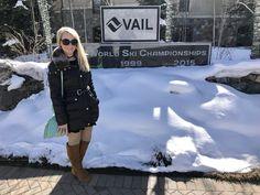 Teshia in snowy Vail, Colorado Vail Colorado, Park City, Canada Goose Jackets, Galleries, Skiing, Jackson, Original Paintings, Art Gallery, Winter Jackets