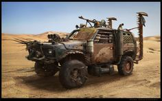 Mad Max Jeep, Mark Orzechowski on ArtStation at https://www.artstation.com/artwork/mad-max-jeep