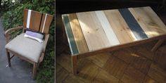 Nightwood furniture. Modern rustic furniture repurposed from the trash. Brooklyn.